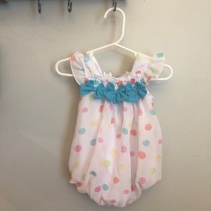 Baby girl bubble outfit